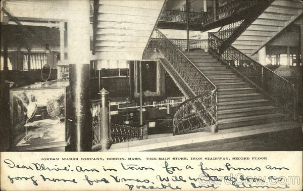 Main Store Iron Stairway - Jordan Marsh Company Boston Massachusetts