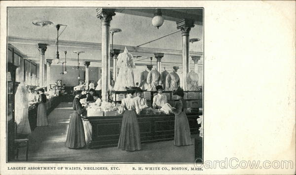 R.H. White Co - Assortment of Waists, Negligees Boston Massachusetts