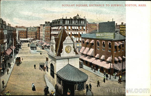 Scollay Square, Entrance to Subway Boston Massachusetts