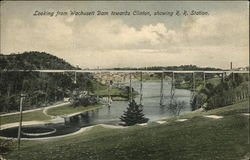 Looking from Wachusett Dam towards Town, Showing R.R. Station