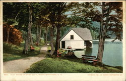 Boat House in White Mountains, Echo Lake