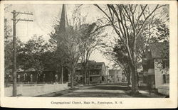Congregational Church, Main St. Postcard