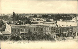 Photographic View of Howell, MI from Above
