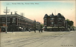 Forest Hills Square Postcard