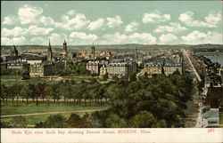Birds Eye view Back Bay showing Beacon Street