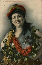 Hawaiian Islands Beauty Female Portrait