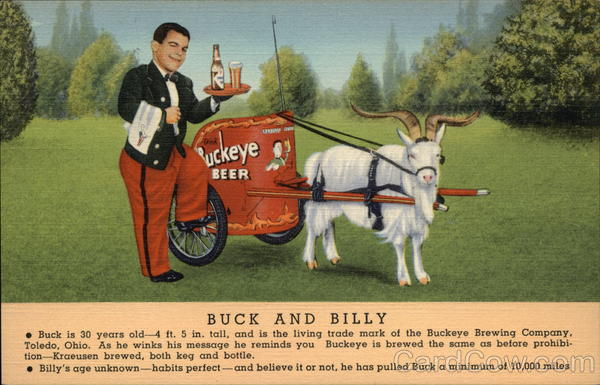Buckeye Beer - Buck and Billy Advertising Breweriana