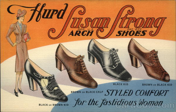 Hurd Susan Strong Arch Shoes Styled Comfort for the Fastidious Woman