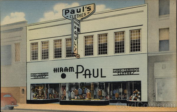 Hiram Paul Clothes Advertising