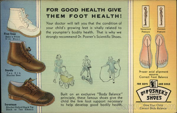 Dr. Posner's Scientific Shoes Advertising
