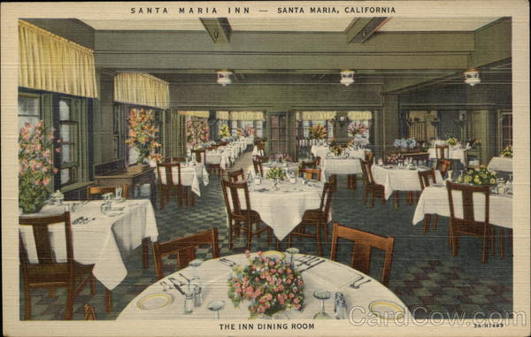 Santa Maria Inn - The Inn Dining Room California