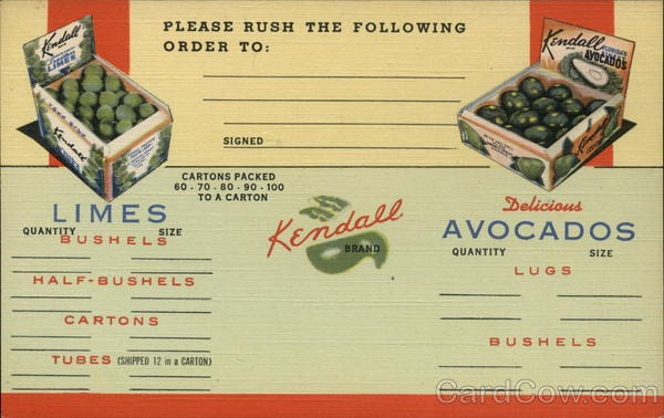 Kendall Brand Limes & Avocados Goulds Florida Advertising
