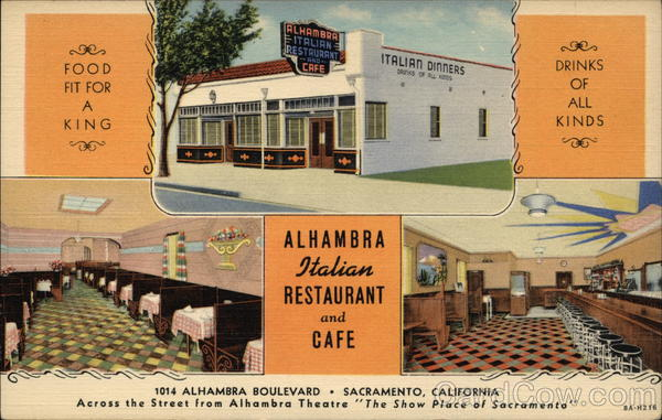 Alhambra Italian Restaurant and Cafe Sacramento California