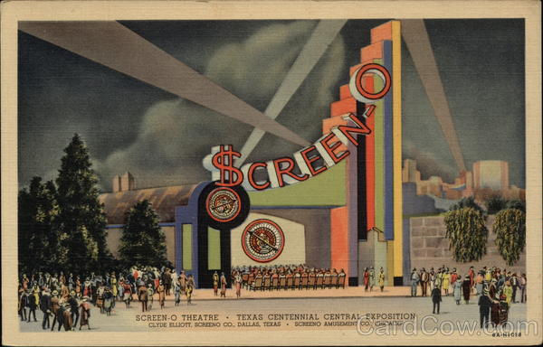 Screen-O Theatre, Texas Centennial Exposition Dallas