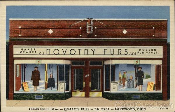 Novotny furs inc lakewood oh for T shirt printing lakewood ohio