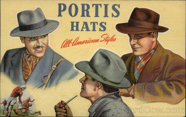 Portis Hats All-American Styles Advertising