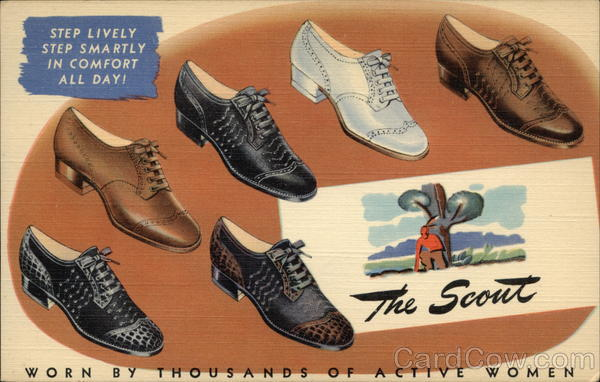1940's Shoe Advertising: The Scout, Worn by Thousands of Active Women