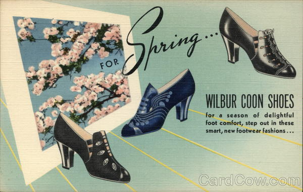 For Spring ... Wilbur Coon Shoes Advertising