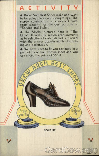 Drew Arch Rest Shoes Shoe Advertising