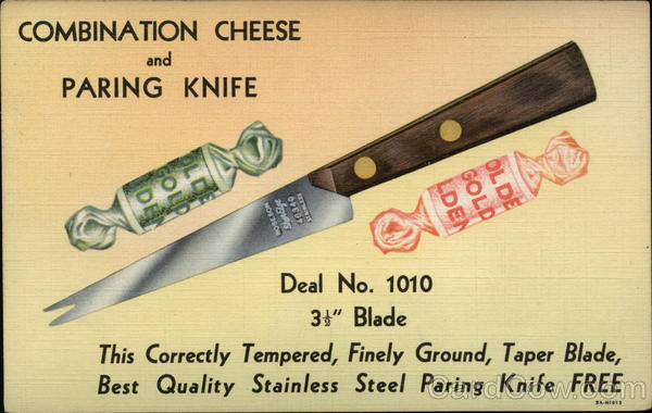 Pulver Co. Combination Cheese and Paring Knife Advertising