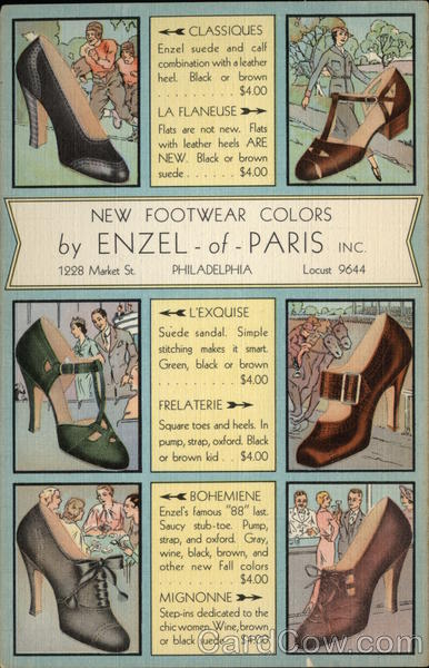 Enzel-of-Paris Shoes Advertising