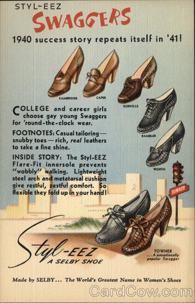 1940's Swaggers Shoes Advertising