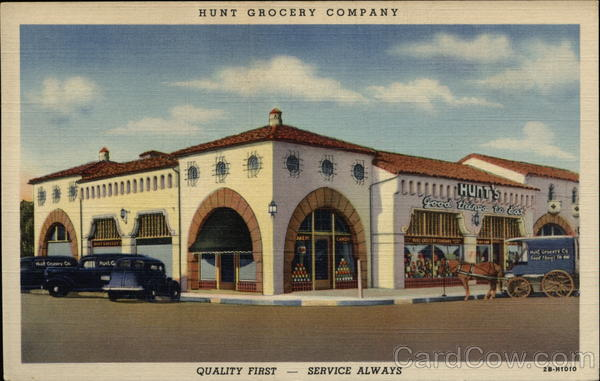 Hunt Grocery Company Dallas Texas Advertising