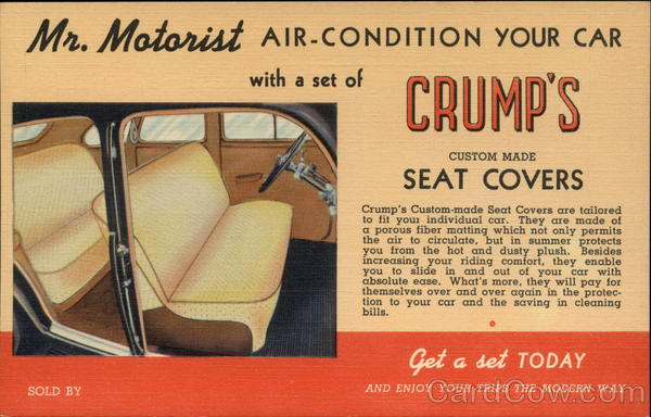 Crump's Seat Covers Advertising Cars