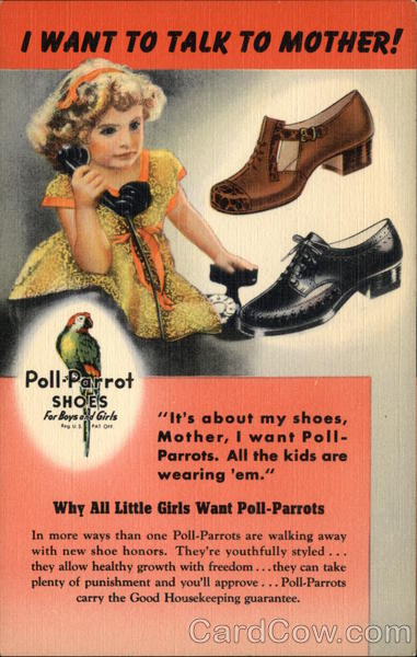 Poll-Parrot Shoes Advertising