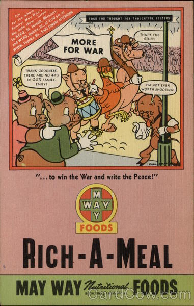 Rare Rich-A-Meal May Way Foods Ad Advertising