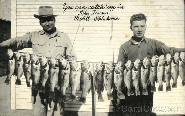 You can Catch 'em in Lake Texoma Madill Oklahoma
