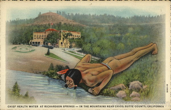 Chief Health Water at Richardson Springs - in the Mountains near Chico, Butte County, Califormia California