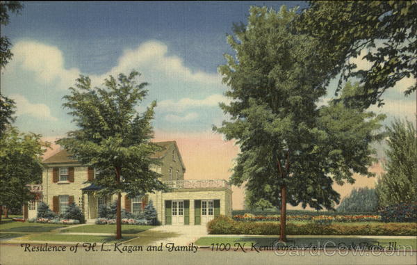 Residence of H.L. Kagan and Family Oak Park Illinois