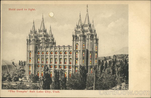 The Temple Salt Lake City Utah Hold To Light