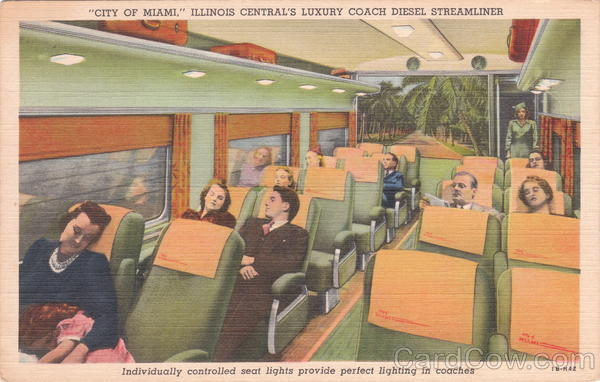 City of Miami Illinois Central's Luxury Coach Diesel Streamliner
