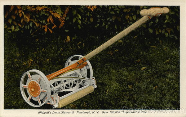 Coldwell's Lawn Mower, Made In Newburgh, New York Advertising