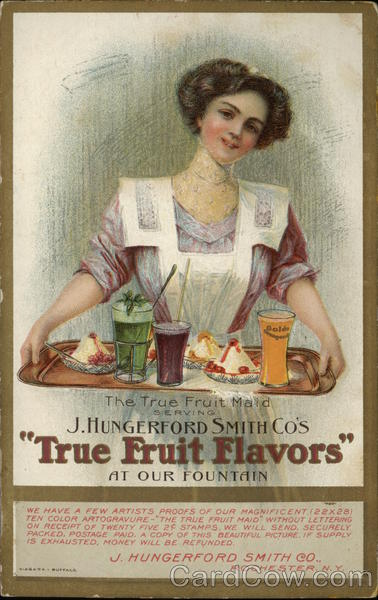 J. Hungerford Smith Co's True Fruit Flavors Advertising