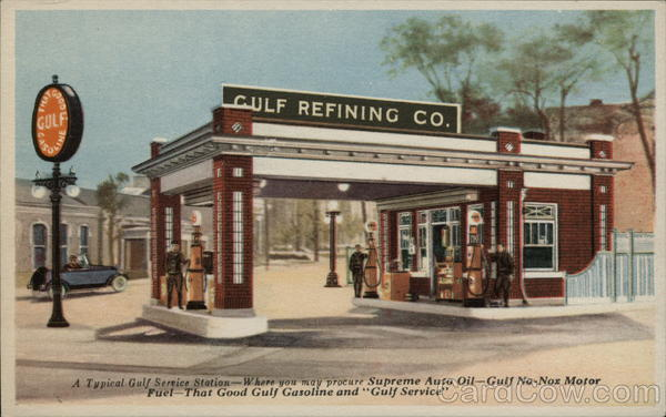 Gulf Refining Co. - A Typical Gulf Service Station