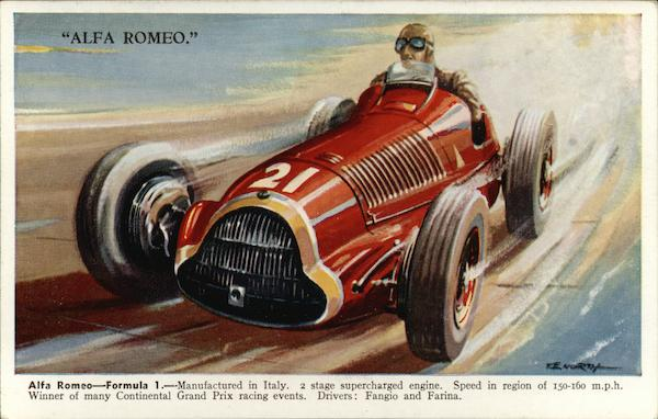Alfa Romeo - Formula I. - Manufactured in Italy. 2 Stage Supercharged Engine