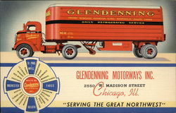Glendenning Motorways Inc. Moving Van Postcard