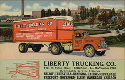 Liberty Trucking Co Postcard