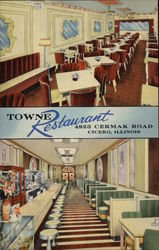 Towne Restaurant and Baroque Salon Postcard