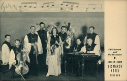 Edith Lorand and her Orchestra, Tavern Room, Bismarck Hotel Postcard