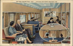 "The New Streamliner ""400"" - Chicago and North Western Line Postcard"
