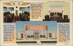 Philco Radio Salon Postcard