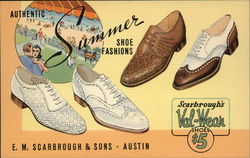 E. M. Scarbrough & Sons, Authentic Summer Shoe Fashions Postcard