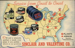 Sinclair and Valentine Co., Service from Coast to Coast