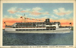 America's Finest Streamliner the S.S. Mount Vernon, Capacity 2400 Passengers Postcard