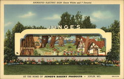 Animated Electric Sign (Snow White and 7 Dwarfs) - Junge's Bakery Products