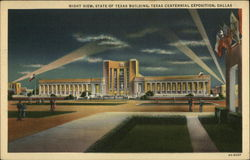 Night View, State of Texas Building, Texas Centennial Exposition